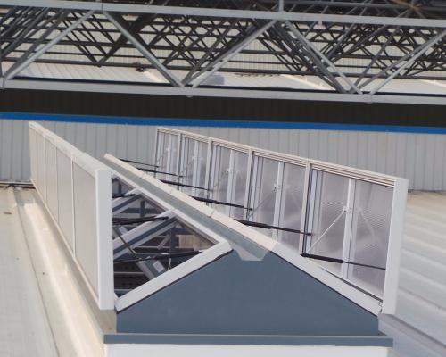 辽宁大唐国际沈抚连接带热电厂2×350MW新建排烟天窗工程