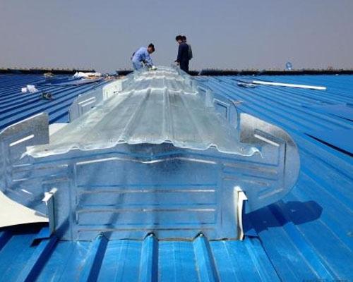 """哈尔滨热电有限责任公司350MW""""上大压小""""热电联产扩建工程的封闭煤场采光薄型屋顶通风器"""